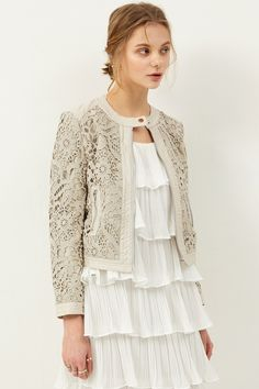 Ella Embroidery Leather Jacket Discover the latest fashion trends online at storets.com