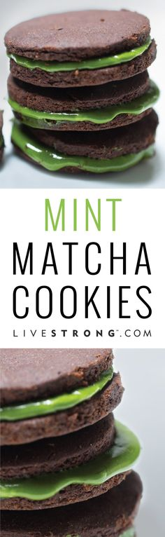 Get ready for March with these St. Patrick's Day-ready treats. These mint matcha cookies are like eating an oreo cookie, but with health benefits.