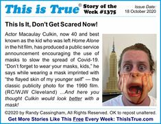 The Story of the Week from ThisIsTrue.com's newsletter from week 1,375. The horror ... the horror!