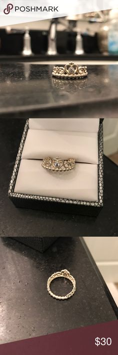 Pandora Princess Ring size 7, barely worn Pandora Jewelry Rings