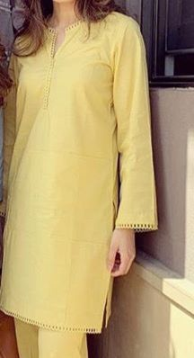 Girls Dresses Sewing, Stylish Dresses For Girls, Simple Dresses, Casual Dresses, Casual Wear, Casual Frocks, Simple Pakistani Dresses, Pakistani Fashion Casual, Pakistani Dress Design