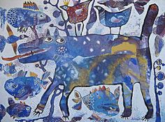 Canvas Art Print Artwork for Children childrens decor by dyuminart, $70.00