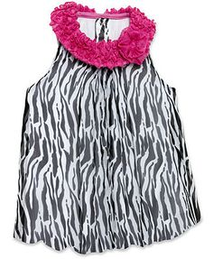 Baby Essentials Baby Girls' Zebra Bubble Romper