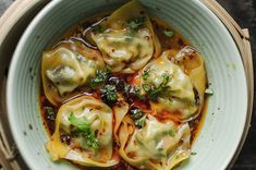 wonton in chilli broth asian recipes Steamed wontons in chilli broth I Love Food, Good Food, Yummy Food, Tasty, Steamed Dumplings, Chinese Dumplings, Fingers Food, Asian Recipes, Gastronomia