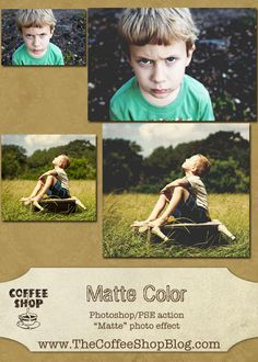 The CoffeeShop Blog: CoffeeShop Matte Color Action-UnWrapped Tutorial!