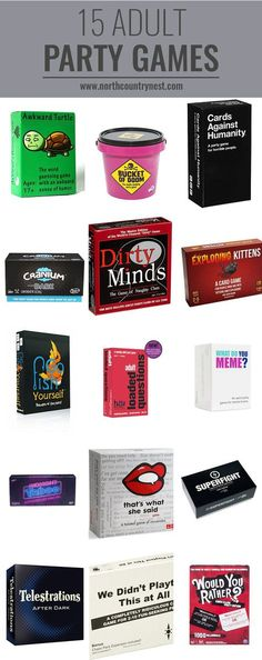 15 Adult Party Games adult party games, holiday gift ideas, party games for adults, adult board games, adult games The post 15 Adult Party Games appeared first on Lynne Seawell& World. Adult Slumber Party, Slumber Party Games, Adult Party Games, Bachelorette Party Games, Birthday Party Games, Adult Games, Slumber Parties, Birthday Gifts, 30th Party