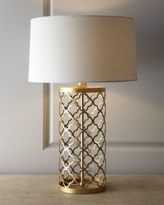 Shop Quatrefoil Drum Lamp from Regina Andrew Design at Horchow, where you'll find new lower shipping on hundreds of home furnishings and gifts. Bedside Lamp, Desk Lamp, Lamp Table, Living Room Table Lamps, Ikea Lamp, Lampe Retro, Unique Lamps, Bedroom Lamps, Home And Deco
