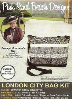 Downton Abbey London City Bag Fabric Kit - Pink Sand Beach Designs