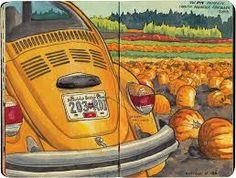 VW bug pumpkin patch