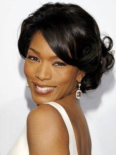 Angela Bassett: A gorgeous drop earring for a formal affair.  This woman looks better and better with age. Stunning.