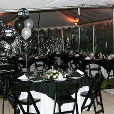 Tented black tie party