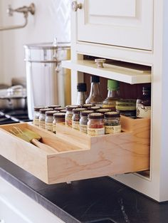 Pantry Storage Cabinet, Kitchens, Spices, Spice, Kitchen, Cuisine, Stove, Cucina