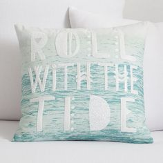 Perfect dorm decor #RollTide | Kelly Slater Roll With The Tide Pillow Cover | PBteen