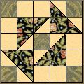 "LOVE this site  ""Quilt Blocks Galore"" - FREE downloadable patterns!!!   Grandmother's Puzzle Pattern"