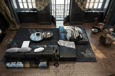 Dramatic And Refined Black Historical Apartment In Paris | DigsDigs