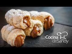 Cañoncitos de dulce de leche recetas dulces rapidas y faciles - YouTube