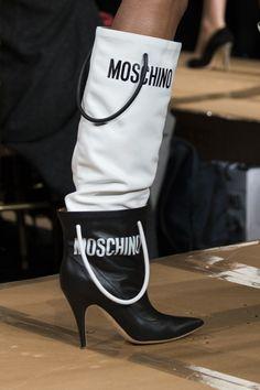 Moschino at Milan Fashion Week Fall 2017 - Details Runway Photos