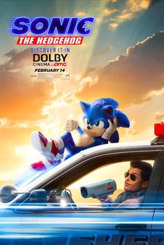 High resolution official theatrical movie poster ( of for Sonic the Hedgehog Image dimensions: 2025 x Starring Ben Schwartz, James Marsden, Jim Carrey, Tika Sumpter Sonic The Hedgehog, Hedgehog Movie, Jim Carrey, Live Action, Sonic The Movie, Cinema Posters, Movie Posters, Le Clown, Film Streaming Vf