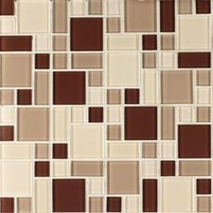 Instant Mosaic 12 in. x 12 in. Peel and Stick Beige and Brown Glass Wall Tile-EKB-04-102 - The Home Depot