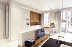 Projekt wnętrza mieszkania // apartment interior designLok. // loc.: WarszawaPowierzchnia // area: 46m²Rok // year: 2015Współpraca // Daria Dwornik