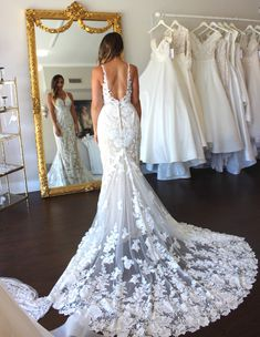 Wedding Dress Shopping at Malindy Elene in Tampa, FL: Martina Liana Wedding Dress Shopping, Wedding Dresses, Wedding Styles, Wedding Ideas, Custom Jewelry, Trendy Fashion, Bride, Lace, Collection