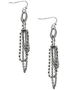 BKE Rhinestone Chain Earring