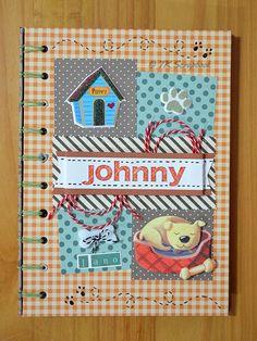 Caderno de mensagens em scrapbook (visão geral da decoração)