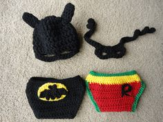 Super Hero Hat, Mask and Diaper Cover