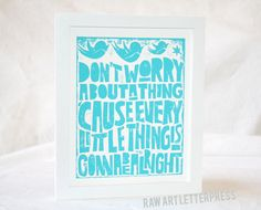song lyrics printed and framed for the nursery