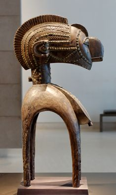 Shoulder mask nimba, representing a fertility spirit. Sculpture of the Baga people, Africa.