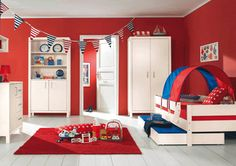 Triadic Kids Room - Combines 3 hues that are equidistant on the colour wheel. Theses are the Primary colours