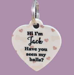 Hi I'm (Add Name) Have You Seen My Balls? Add Pets Name! Pet ID Tag, Custom Dog Tag, Pet Identification, Back The Blue, Thin Blue Line by ForeverCharmz on Etsy