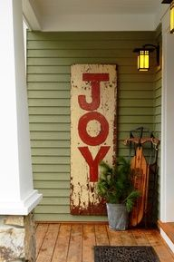 Holiday decor for front porch. It could say anything!