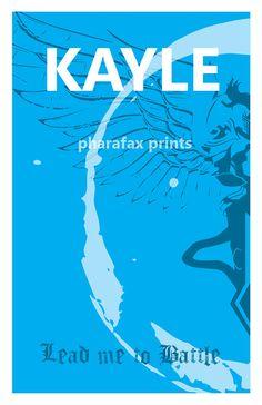 Kayle League of Legends Print by pharafax on Etsy (orange one pls)