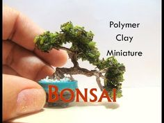 Miniature Bonsai Tree from Polymer Clay for a Dollhouse - YouTube