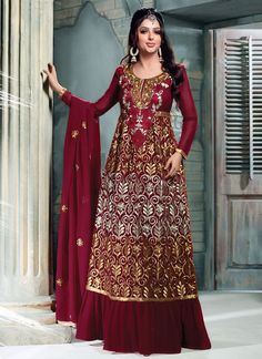 1 Georgette Indian Anarkali Suits Collaction 2015 By Bhumika Chawla (4)