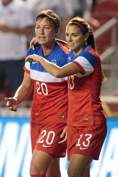 Abby Wambach and Alex Morgan vs. Mexico, Sept, 13, 2014, Rio Tinto Stadium, Sandy Utah. (U.S. Soccer)