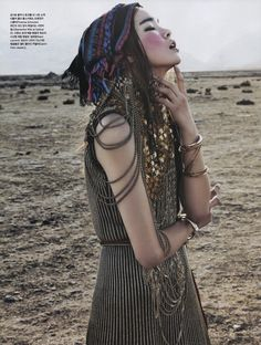 A Nomad in Tibet | Vogue Korea July 2014 | Jin Jung Sun by Kim Young Jun [Editorial] #ProenzaSchouler #SaintLaurent