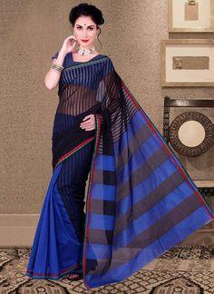 Buy Dark Blue N Black Manipuri Silk Half N Half Saree at Best Price|Buy Traditional Saree Online -Cbazaar.com SAKSTS659