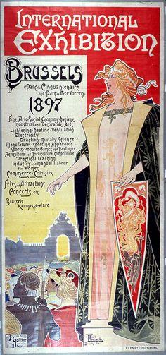 1897 - Poster Wereldtentoonstelling Brussel