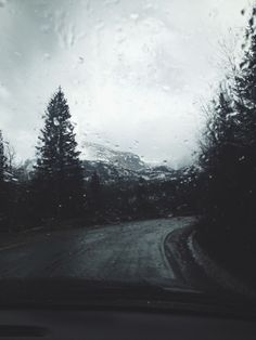 Driving down a rainy road. I Love Rain, No Rain, Rain Photography, Landscape Photography, Rainy Mood, Rain Days, Aesthetic Pictures, Paths, Scenery