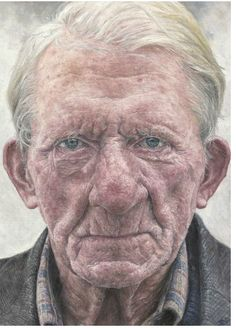 another art portrait by Shania McDonagh, Co. Mayo, aged 15 - entitled 'Denis'