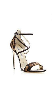 Tamy Printed Calfhair Sandals by Brian Atwood Now Available on Moda Operandi