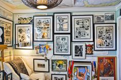 Little Cottage, Huge Art: A firefighter/designer and his designer partner resuscitate a mid-century cottage, breathing fresh life infused with art into 213 Demontluzin. - story and photos by Ellis Anderson Bsl, Beach Cottages, Firefighter, Gallery Wall, Mid Century, Fresh, Photos, Life, Design