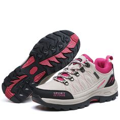 Find More Hiking Shoes Information about New Women's Outdoor Sneakers Lace Up Anti slip Hiking Climbing Sports Shoes Breathable Trekking Walking Shoes,High Quality Hiking Shoes from bree's happy world on Aliexpress.com