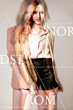 Impressão Nordstrom (classe executiva) na rede Behance