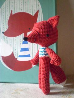 Muñecos de crochete-Fox