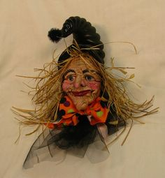 Handmade OOAK Small Size Halloween Hanging Wall by cre8orstouch, $75.00