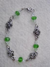 St Paticks Day Irish Rose Swarovski Bracelet $20.00 #ibhandmade