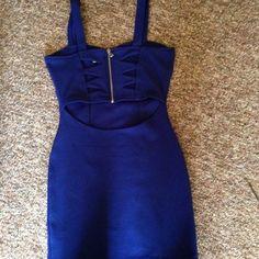 Blue clubbing dress cutout size s New. Always cheaper on mercar. Charlotte Russe Dresses Mini